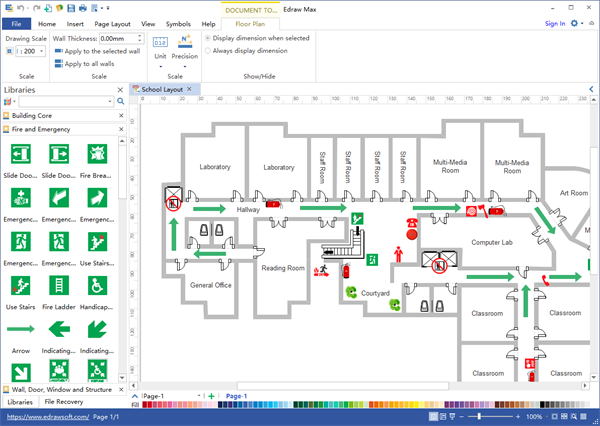 How to create an evacuation floor plan for my office quora for Free office design software