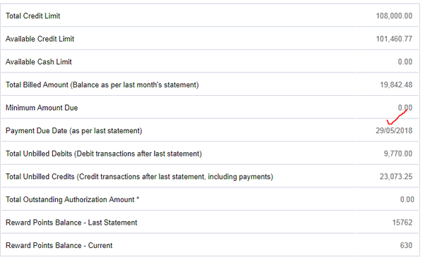 hdfc freedom credit card billing cycle date