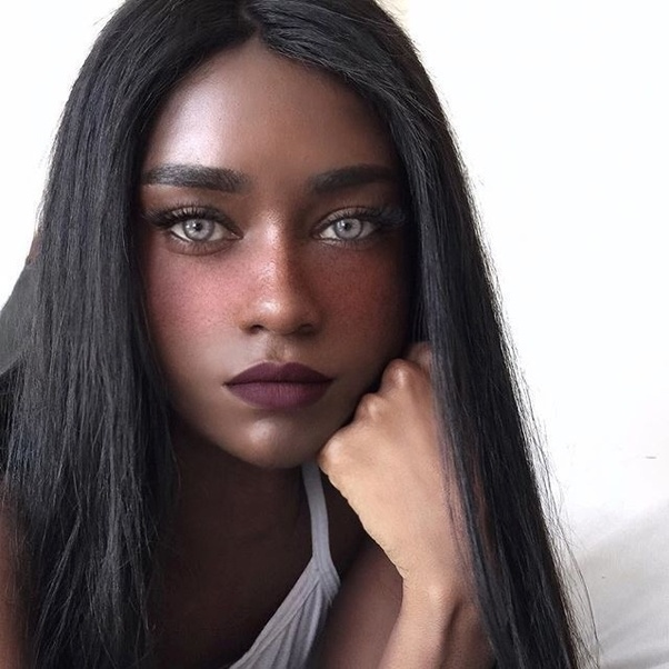 Girl beautiful the most black These Most