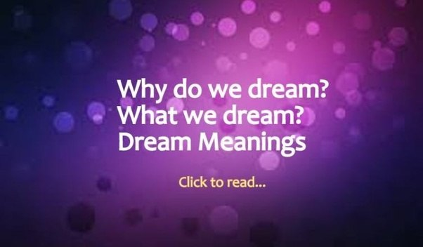 What Are Some Common Symbols And Their Meanings In Dream