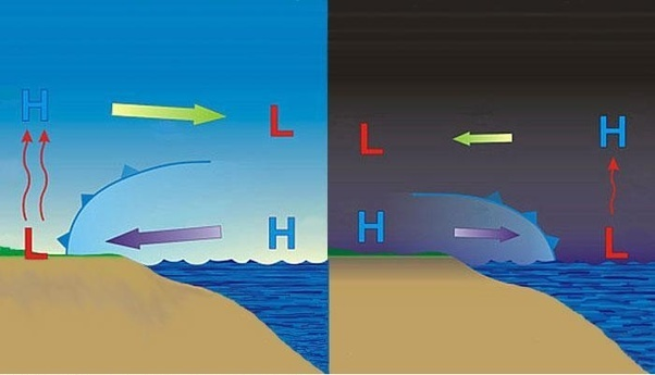 What Causes Sea Breeze And Land Breeze To Happen Quora