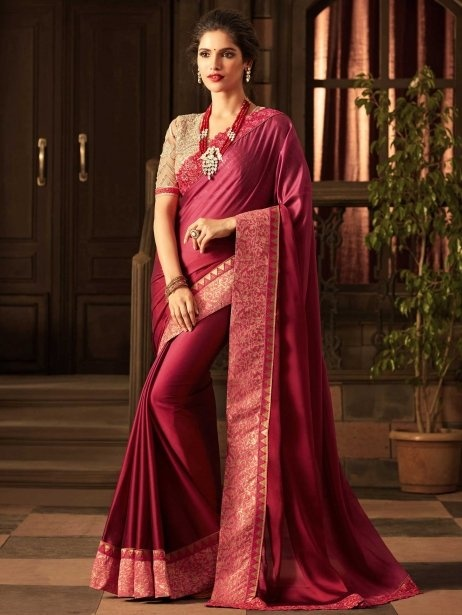 987099e0cb7ea What colour blouse matches a rich magenta pink Kanchipuram saree if ...