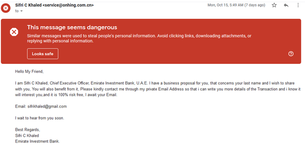 Nigerians, have you ever received a Nigerian scam email? How did you