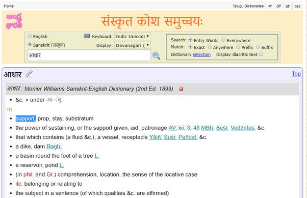 Is Aadhaar a Hindi word? What is its origin? - Quora
