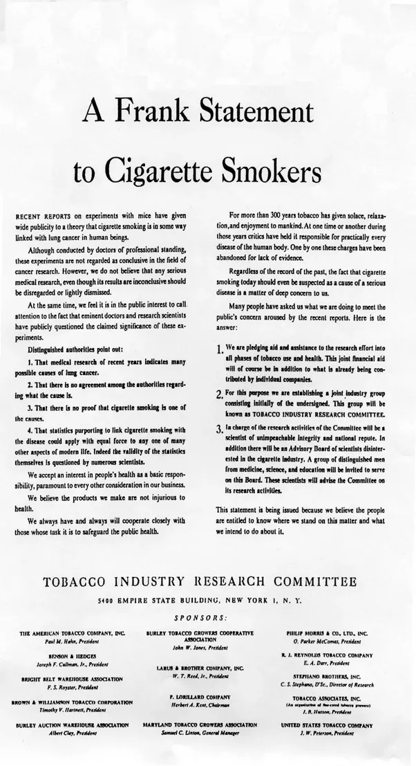Why Are Tobacco Companies Seen In A More Negative Light Than Alcohol