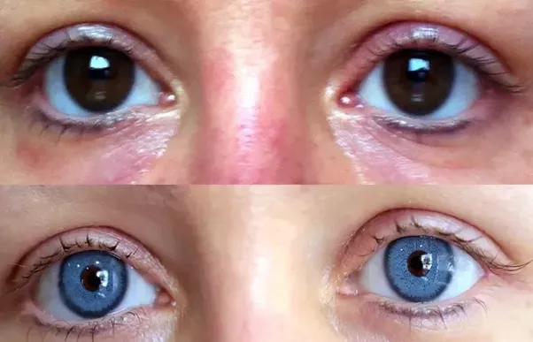how to change your eye colour to blue