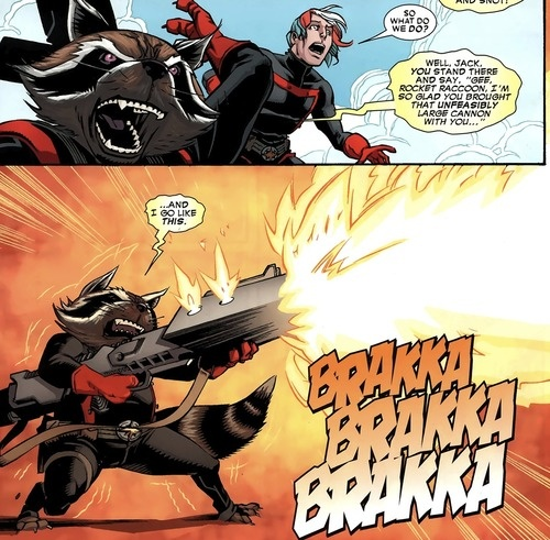 Which version of Rocket Racoon is more powerful, MCU's or