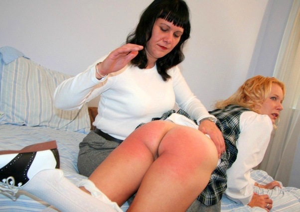 Bare bottoms being spanked