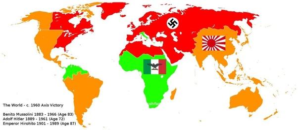 Cartina Mondo Seconda Guerra Mondiale.Se L Asse Avesse Vinto La Seconda Guerra Mondiale Come Sarebbero State Le Divisioni Dei Territori Quora