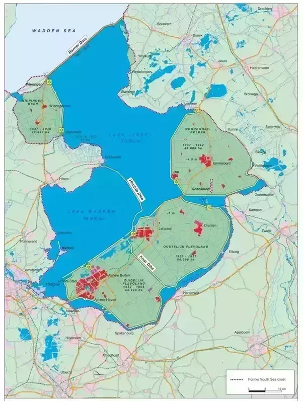 What was the significance of the Dutch reclamation of land from the