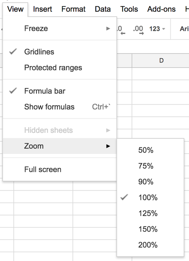 Is There A Way To Zoom Out In A Google Sheet So That I Can See - Google spreadsheet
