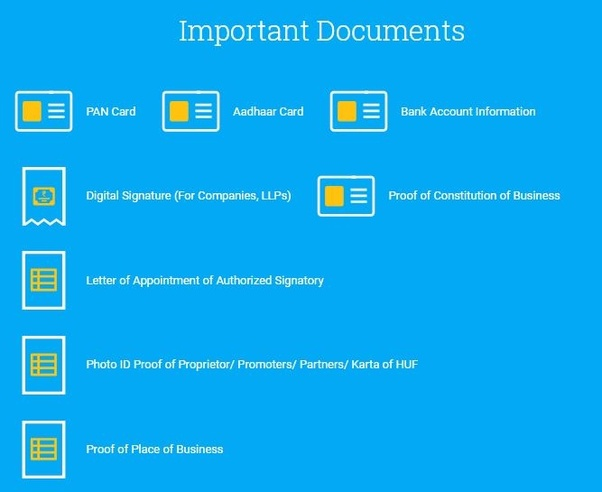 What are the documents required for GST registration in