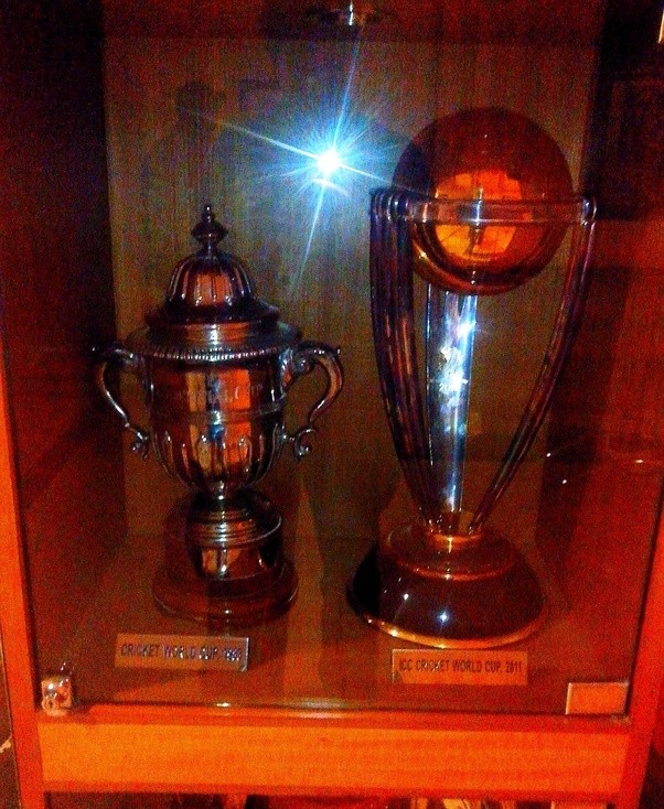 Here Are The 1983 And 2011 WC Trophies Displayed In Lobby Of MCA Cricket Centre Mumbai