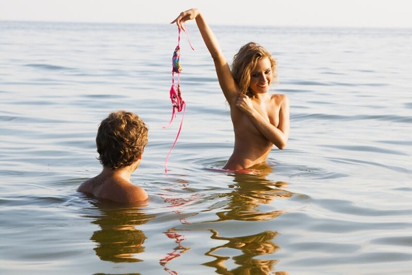 Girls skinny diping