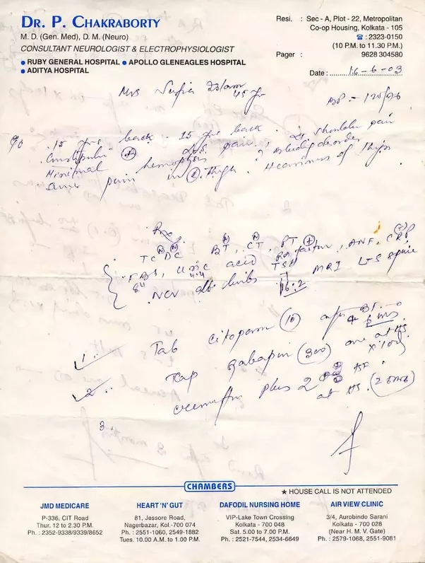 Why do doctors in india have bad handwriting quora lastly doctors do not have bad handwriting they just choose to write badly this is not a conscious decision to confuse people but an unintentional spiritdancerdesigns Image collections