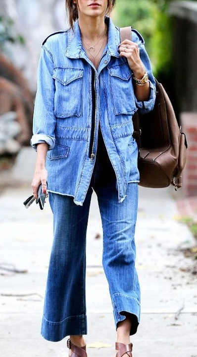 2f7b5700319 7-Style your Denim Jacket Several ways are there to wear one denim jacket.Follow  the image and slay with your look.