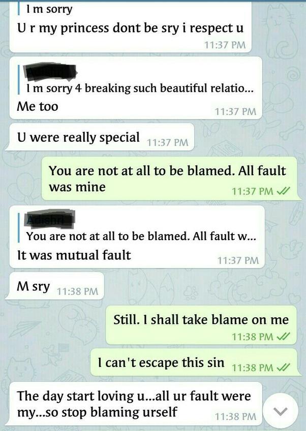 Love whatsapp chats in english