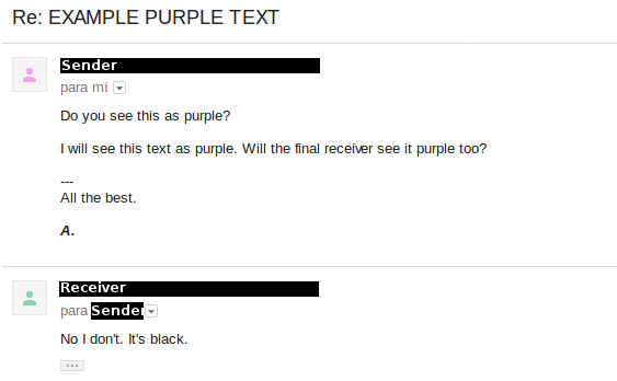 If You Copy A Text That Is Already Purple Make Sure Use The Tx Button And It Doesnt Look On Compose Box Or Will Definitely