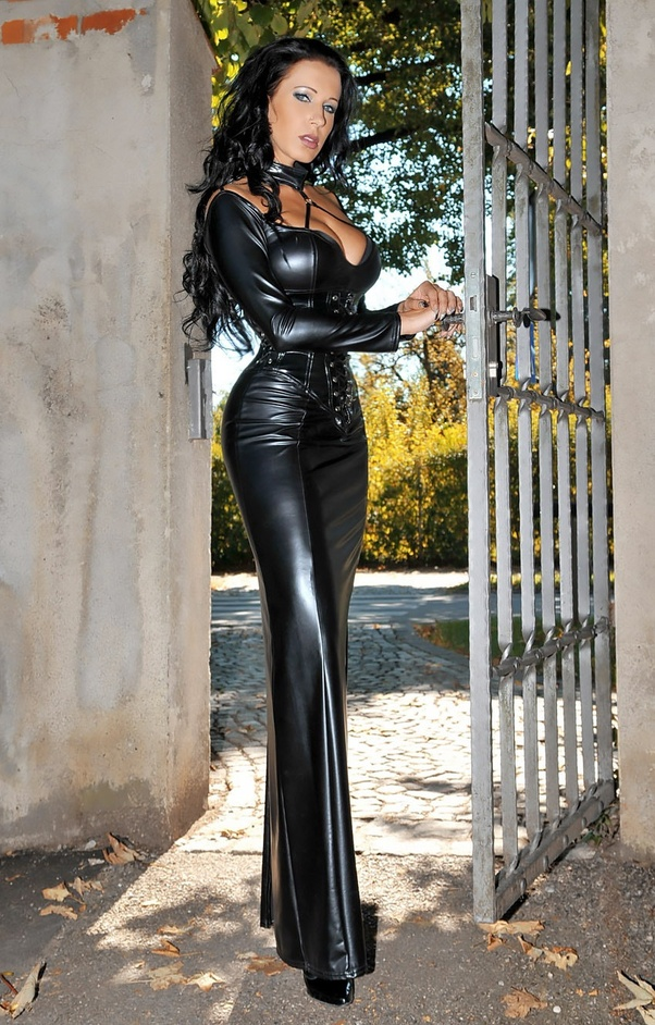 Interesting phrase woman in leather fetish attire understand you