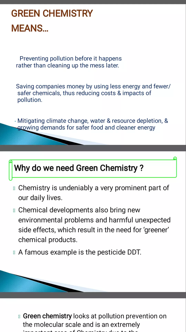 interesting chemistry topics for presentation