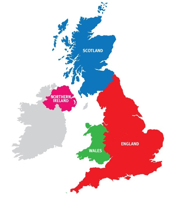 What Is The Difference Between England Wales Scotland Ireland - Where is wales