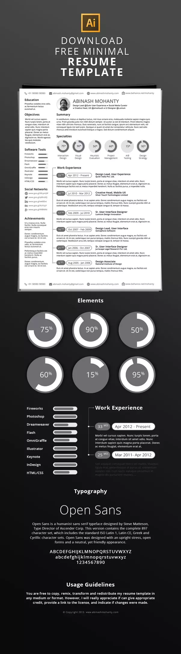 What are the most visually creative resumes you\'ve seen? - Quora