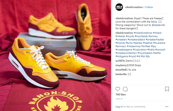 4064ba55622 Nike s NikeiD campaign to promote its customizable shoes lets Instagram  users upload their favorite photo onto the PhotoiD site and choose a shoe  to ...