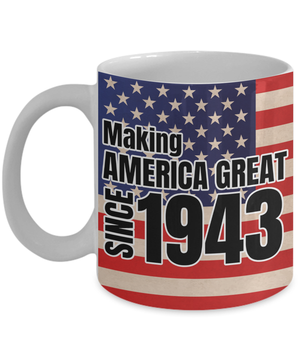 1943 Mugs 75th Birthday Gifts For Women And Men