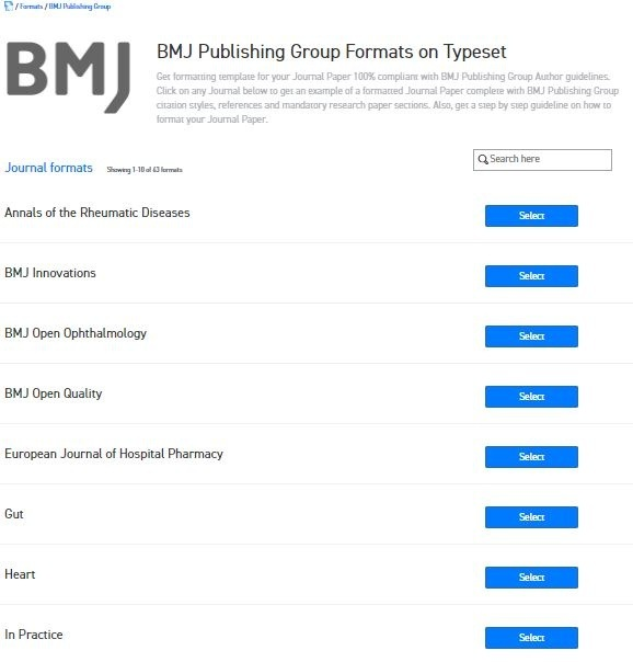 Where Can I Find The Word Template For Bmj Publishing Group Journals