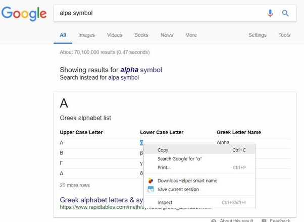 How to insert the alpha symbol in Microsoft Word - Quora