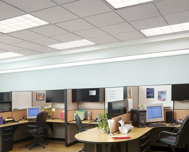 But Planar Light Sources Are The Best But Also More Expensive To Set Up.  That Is Why Offices Across The World Use Ceiling Mounted Tubelights.