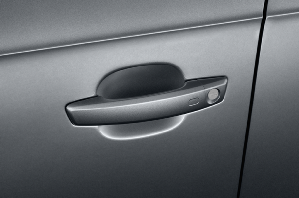inside car door handle.  Door The Handle Is Hinged At Front End And Pulls Straight Out From  Door Back End To Operate Latch Via A Lever Inside Panel In Inside Car Door Handle