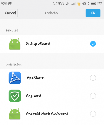Hide apps from application manager
