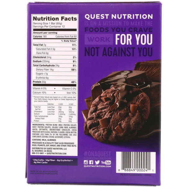 protein bar with high fibre content