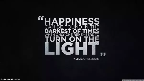 Happiness Can Be Found In The Darkest Of Times When Only One Remembers To  Turn On The Light. U2013 Albus Dumbledore. Albert Einstein Quote