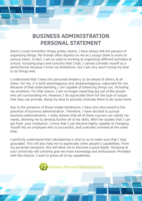 Personal statement for mba scholarship sample