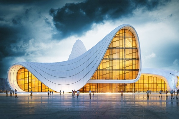 What are the building materials used by architect zaha hadid
