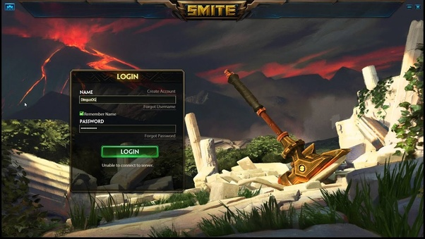 Smite doesn't allow me to login  It says 'Unable to connect