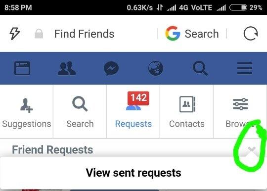 Online dating facebook friend request