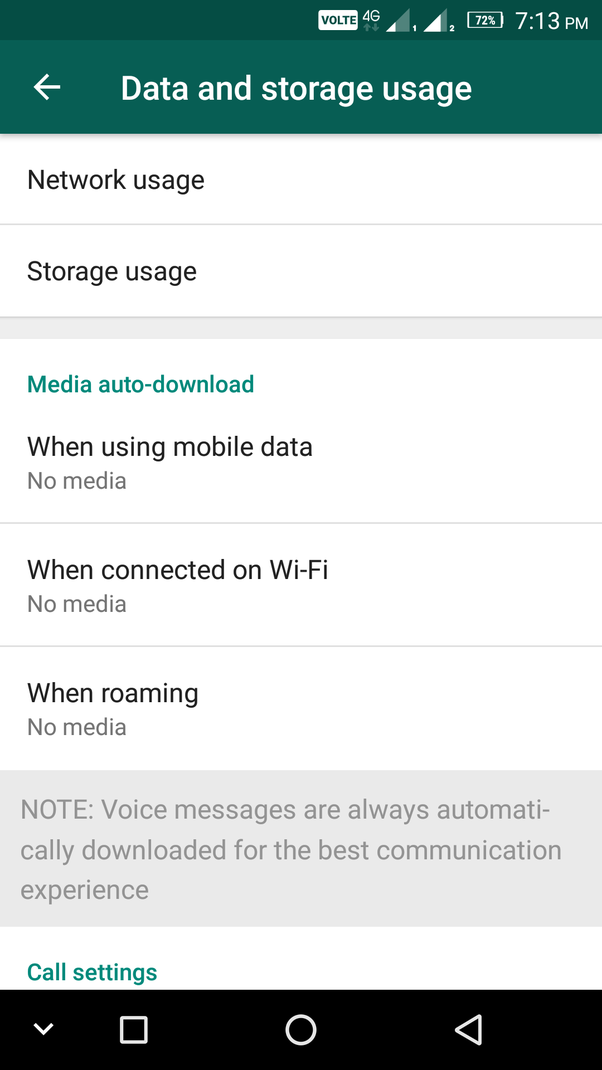 How to stop saving media on an Android phone from WhatsApp
