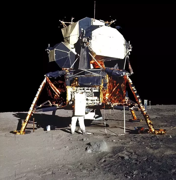 Thats Buzz Aldrin Unloading Samples From The Lunar Module Photo Taken By Neil Armstrong