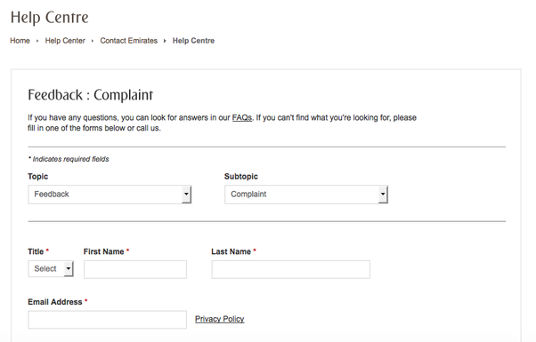 how to file a complaint with the customer affairs department at