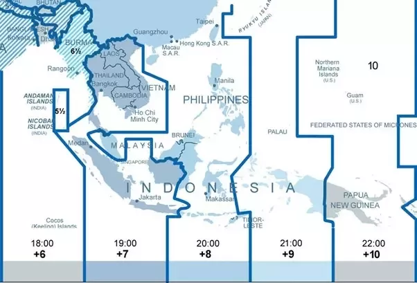 Why do Malaysia mainland and Singapore not share the same time zone as Thailand and Indonesia