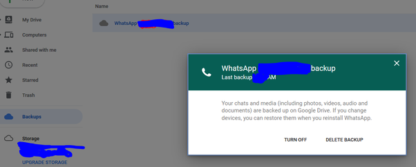 google drive whatsapp backup location
