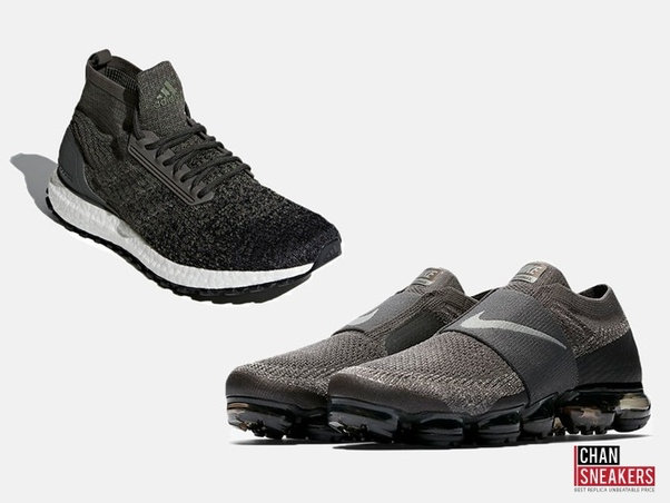 new arrival 2c102 591b1 Adidas Ultra Boost ATR Mid (left), Nike Air VaporMax Flyknit Moc (right)