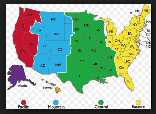 Map Of The United States Separated By Regions.If The Usa Was Divided Into 3 Regions East Central And West