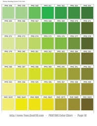 Color Chart For Green