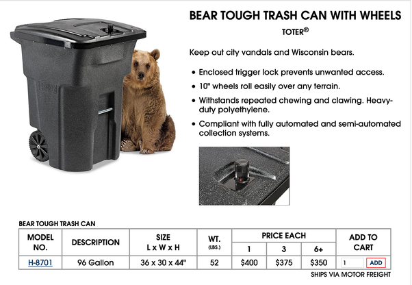 Outdoor Trash Can Is Rac Proof