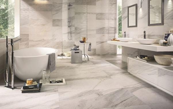 Due to their low-slip factor and water absorption rate, they are the most purchased floor tiles for bathrooms.