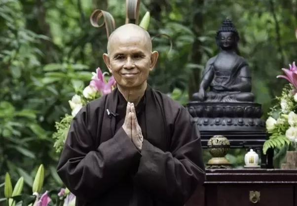 What is a common buddhist greeting quora above you see vietnamese zen master thich nhat hanh he tells us that this hand position would be used if i were offering you a flower m4hsunfo